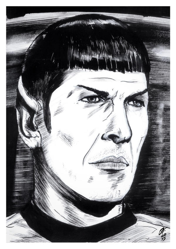 Spock #reto1draw by elfantasmo