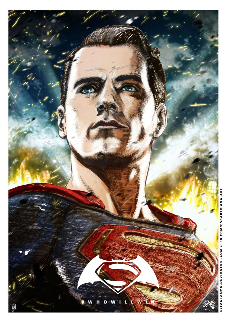 Batman V Superman - Superman Poster by elfantasmo