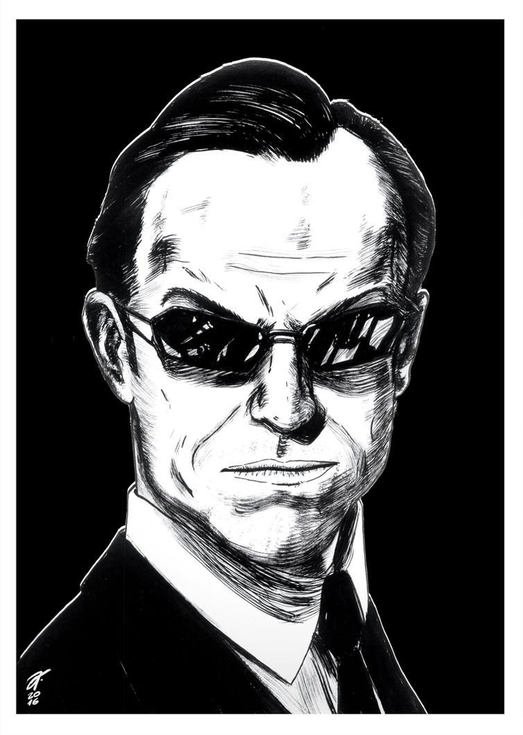 Agent Smith #reto1draw by elfantasmo