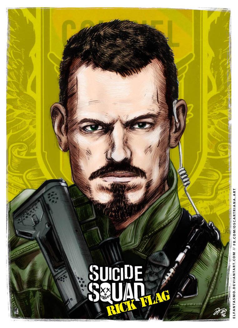 Rick Flag - Suicide Squad Poster by elfantasmo
