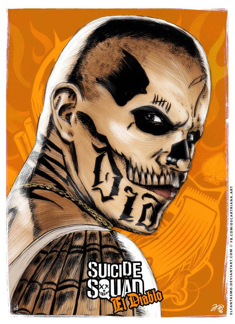 El Diablo - Suicide Squad Poster by elfantasmo