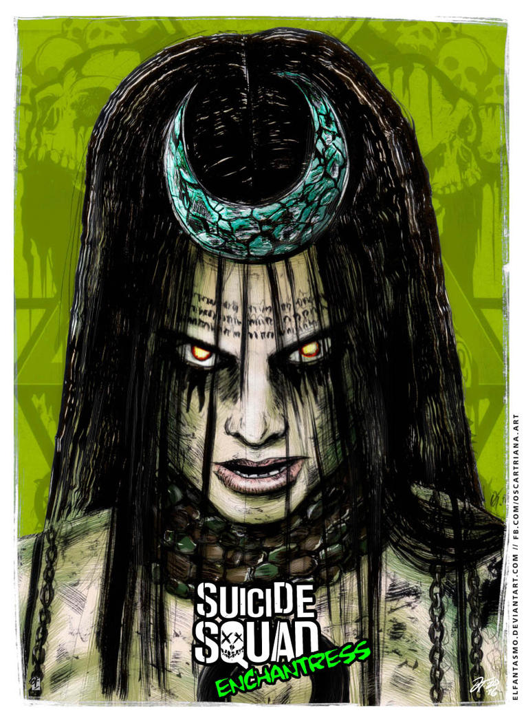 Enchantress - Suicide Squad Poster by elfantasmo