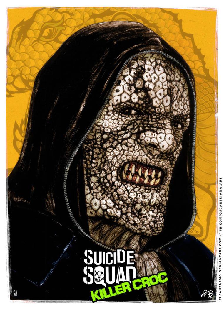Killer Croc - Suicide Squad Poster by elfantasmo