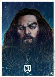 Justice League - Aquaman Poster B by elfantasmo