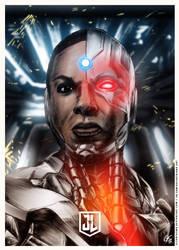 Justice League - Cyborg Poster ALT by elfantasmo