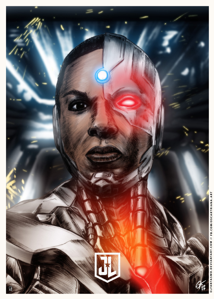 Justice League - Cyborg Poster ALT by elfantasmo