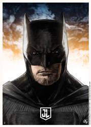 Justice League - Batman Poster I by elfantasmo