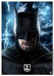Justice League - Batman Poster Night by elfantasmo