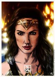 Justice League - Wonder Woman Poster ALT by elfantasmo