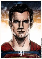 Justice League - Superman Poster by elfantasmo