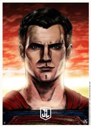 Justice League - Superman Poster ALT by elfantasmo