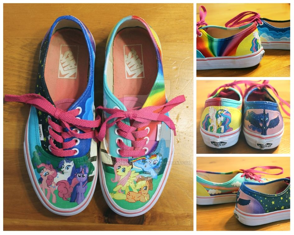 c63238460bd My Little Pony Painted Vans by CassandraEveBrown on DeviantArt
