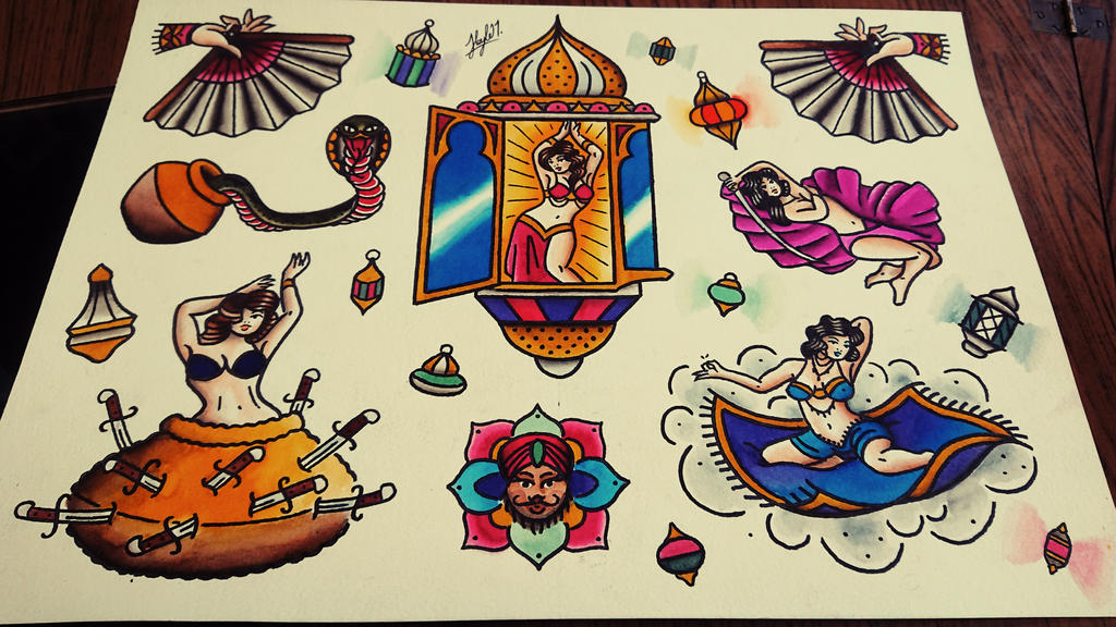 Belly dancing sheet by HoylierThanThou