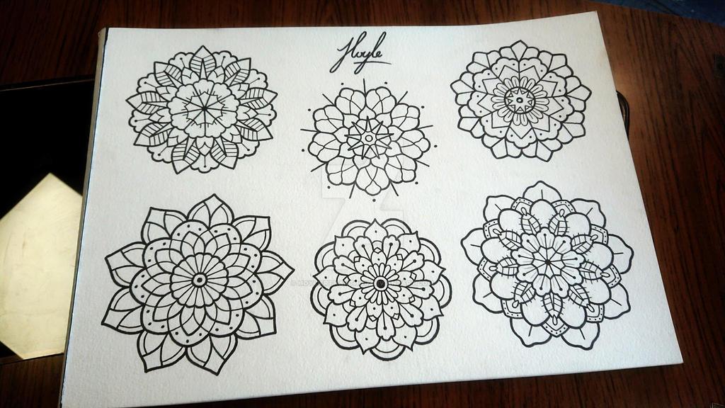 Traditional mandalas  by HoylierThanThou