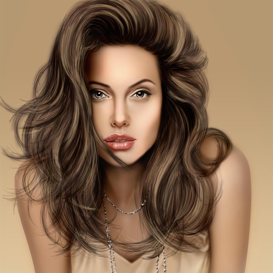 Angelina jolie by Todaviia