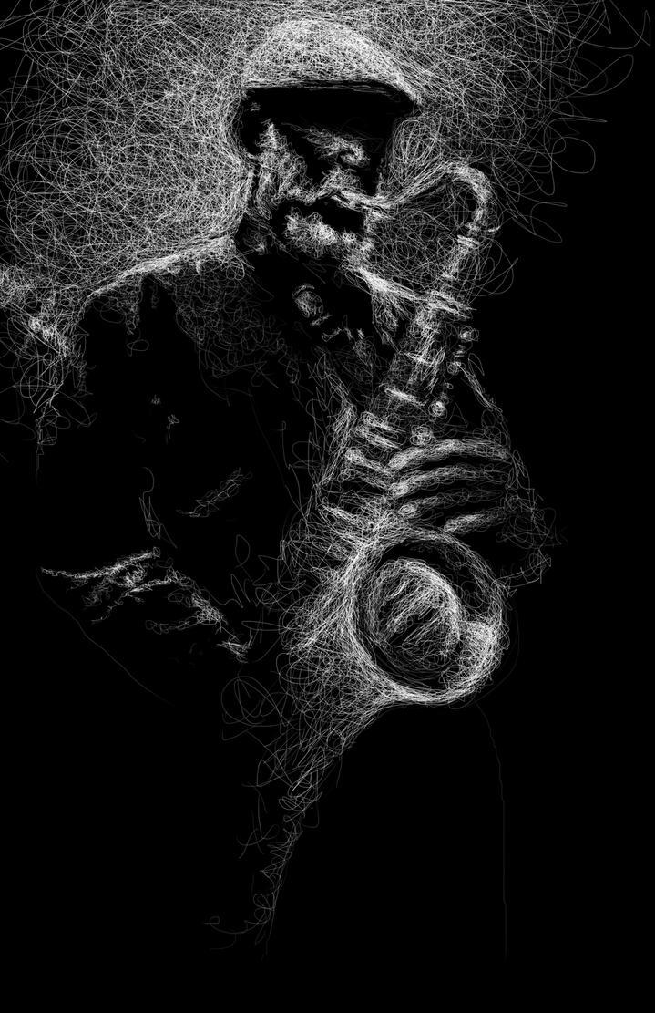 Saxophoniste by Todaviia