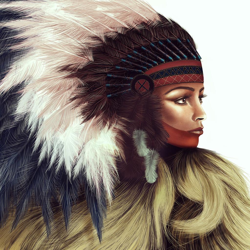 Amerindienne by Todaviia