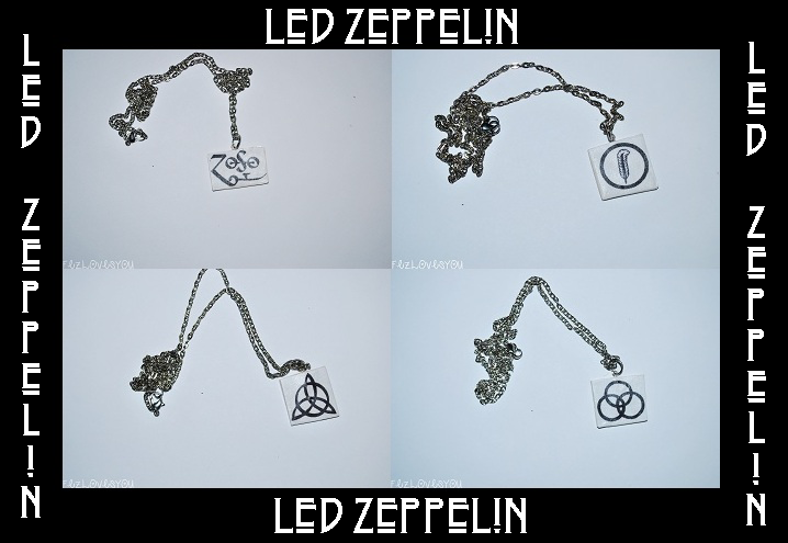Polymer Clay Led Zeppelin Symbol Necklaces By The Thin Ice On Deviantart