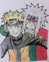 Naruto and Jiraiya by mathew-jp