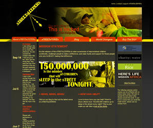 sTREETsLEEPERS website by Mizra