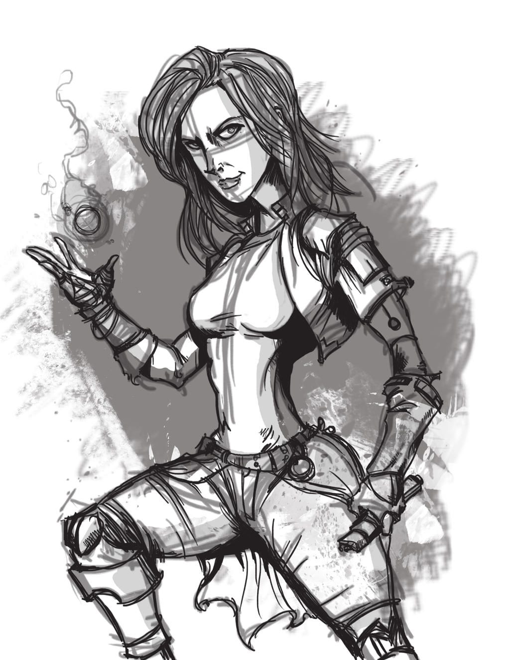 Satkia-sketch by SteveDave81