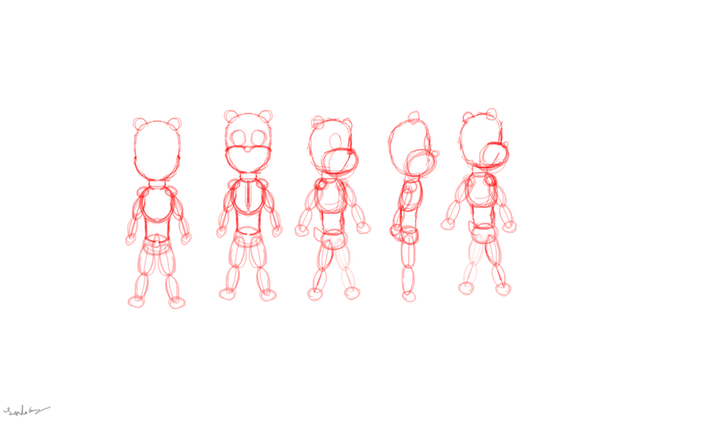 Tsurgdari Child for sprites and animation. by landonbay