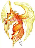 Winged Fox by FiareFox