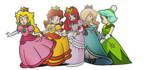 The Royal Princesses and queens by earthbouds