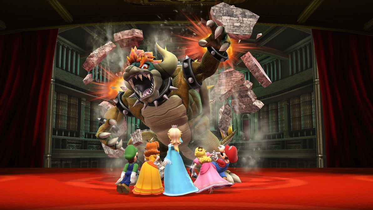 Giga Bowser vs team mario by earthbouds on DeviantArt