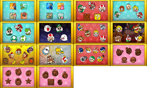 most of the Mario Character Icons