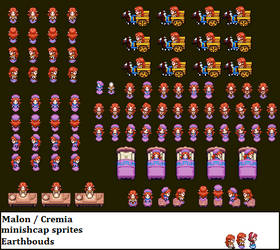 Adult Malon / cremia Minishcap sprites by earthbouds