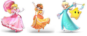 The 3 Super Smash Bros Ultimate Mario Princesses by earthbouds