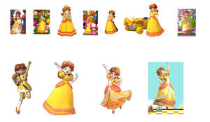 From Artwork To Taunts evolution (princess daisy)