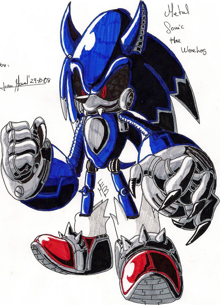 Metal_Sonic_Werehog by Max-Echidna-Bat