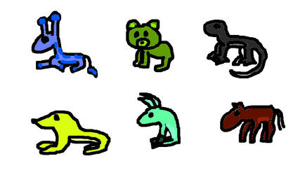 crayola 100 colors challenge adoptables 5 pts eac by PegaKid2012