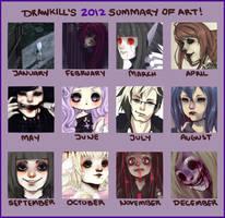 2012 Art Summary by DrawKill