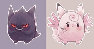 Gengar and Clefable