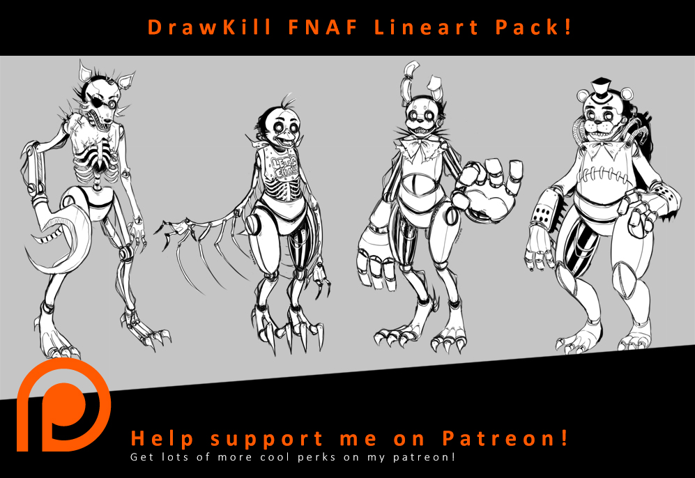 Drawkill Foxy Coloring Pages