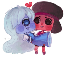 Space Rock Girlfriends by DrawKill