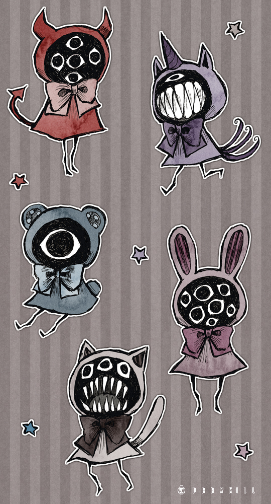Eyeball Puppets by DrawKill