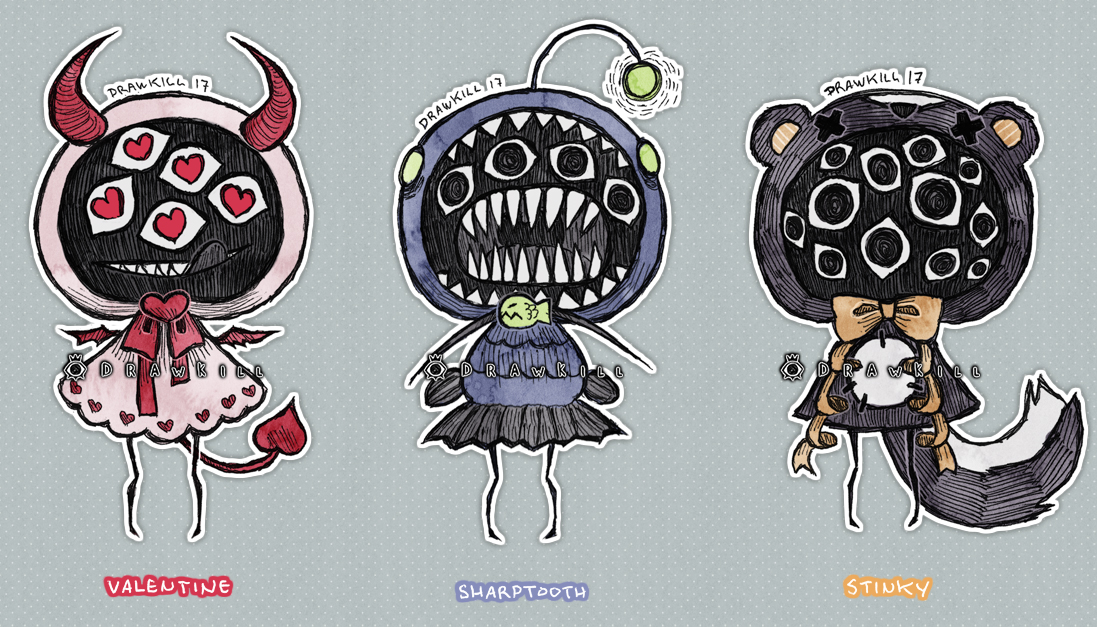 Eyeball Puppets FEB [CLOSED] by DrawKill