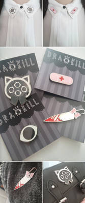 DrawKill Enamel Pins!