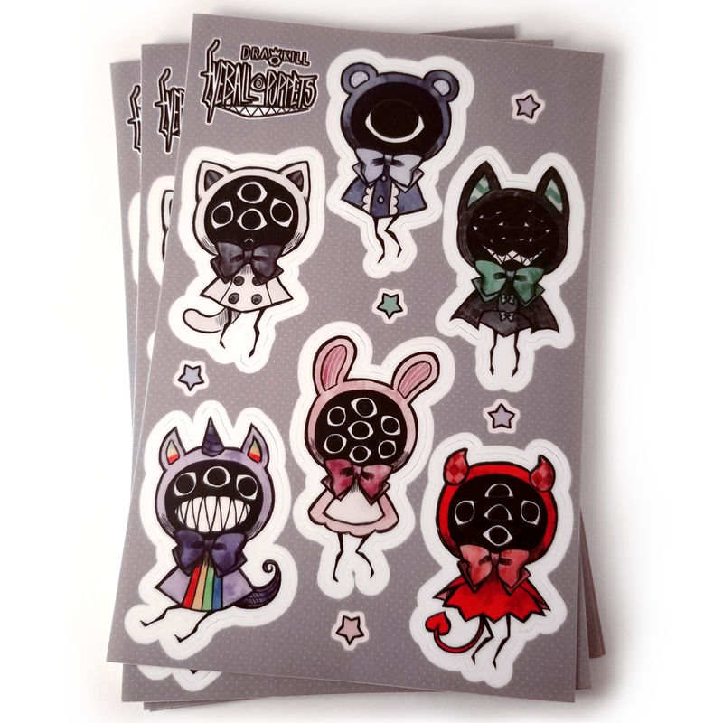 Eyeball Puppet Stickers