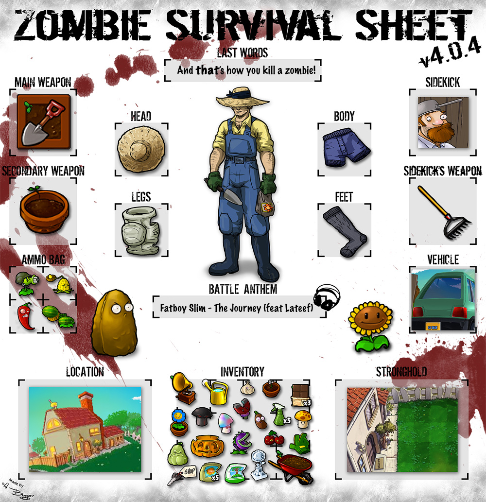 Zombie Survival Sheet - Plants by fan4battle