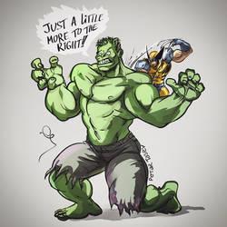 Hulk vs Wolverine by fan4battle