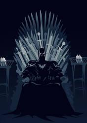 Batman on the Iron Throne by fan4battle