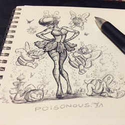 Inktober 2018 Day 1 - Poisonous