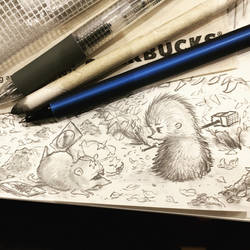 Hedgehog sketch