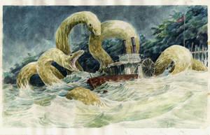 serpiente de rio by carbono14