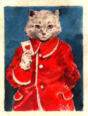the tale of a red hearted cat by carbono14